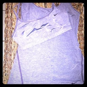 Nike sports bra and top set